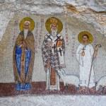 Mosaics in Ostrog monastery, Montenegro. Ostrog mo...