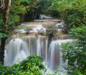Waterfall in forest Huay mae Kamin
