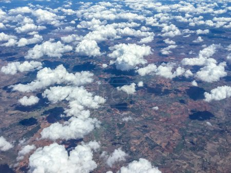 Clouds view from atmosphere