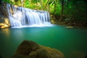 Waterfall and blue stream