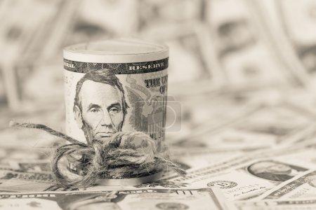 Photo pour Billets en dollars fond rapproché - image libre de droit