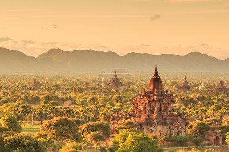 A view at Bagan old ancient temple in Bagan Myanma...