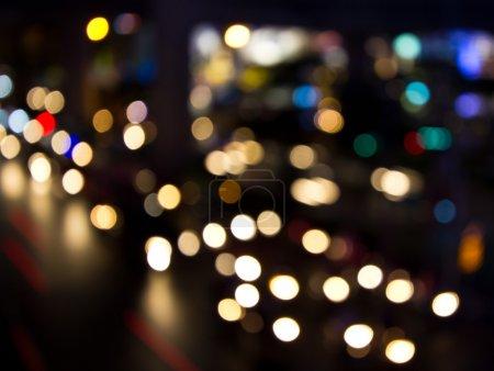 Night lights of city