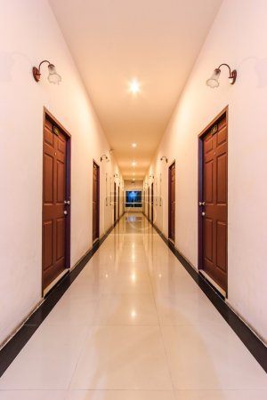 Perspective of the long corridor
