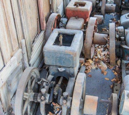 Old engine Traction machine