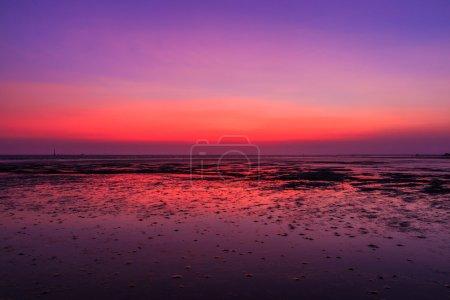 Sunset blue sky