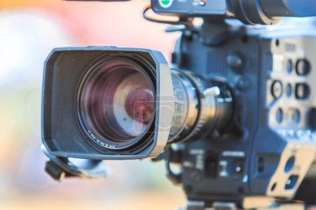Photo for Camcorder Video camera lens in studio shoot - Royalty Free Image