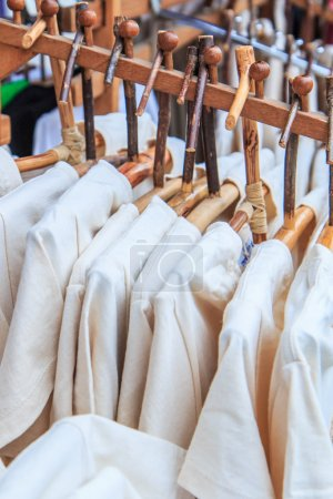 Fashion clothing on hangers