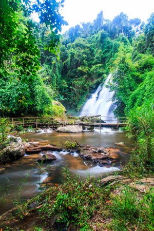 Photo for Pha Dok Xu waterfall at Doi Inthanon National park in Chiang Mai - Royalty Free Image