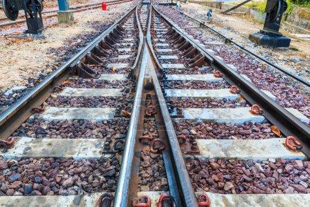Railroad rails  background
