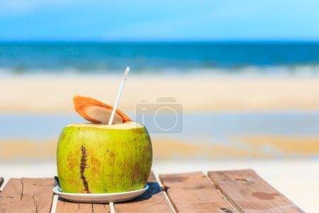 Summer coconut drink