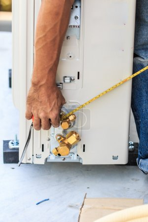 Preparing to install  air conditioner