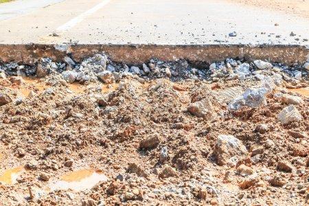 Road repairing works