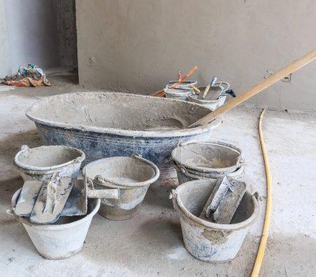 Construction site - cement tank
