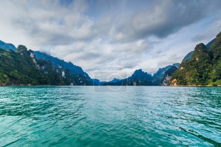 Island in water at Khao Sok National Park