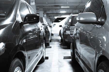 Photo for Cars in row at parking  area - Royalty Free Image