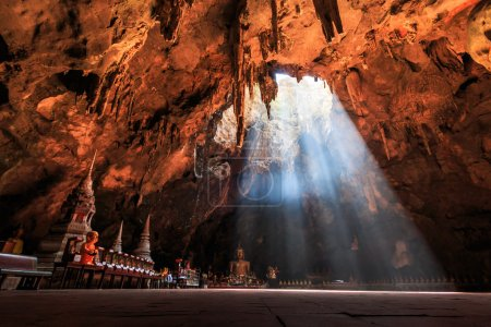 Cave and sun in Thailand