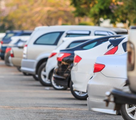 Cars in row at Parking