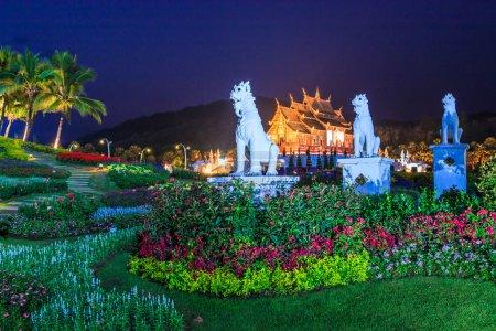 Temple Wat Ho kham luang