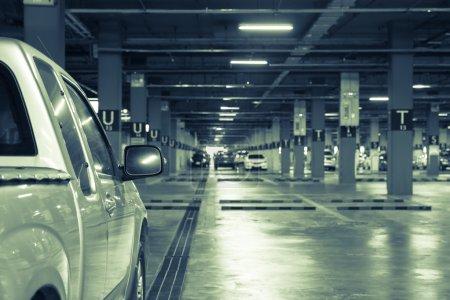 Parking garage area