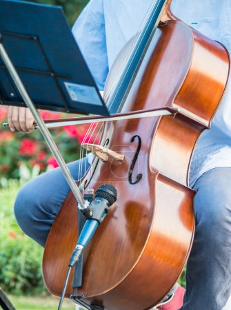 Playing cello music