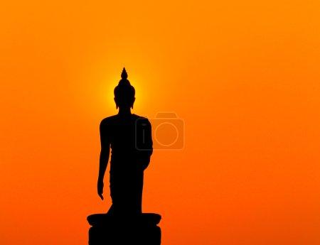 Statue de Bouddha Silhouette