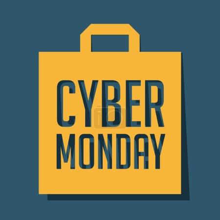 Illustration pour Cyber Monday Vente - image libre de droit