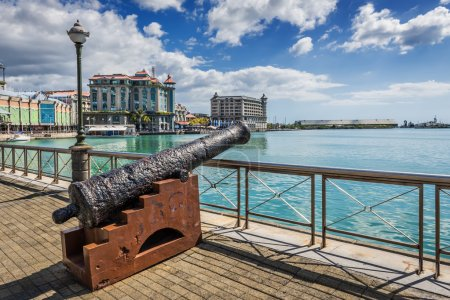 Old cannon on the promenade