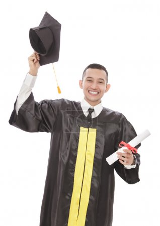young graduated student