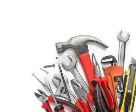 Many Tools on white background
