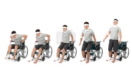 healing process of injured man