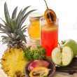 Tamarillo and pineapple mix smoothies