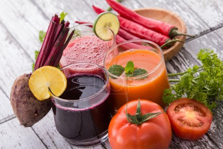 Tomato, Beet, and Red Chili Pepper Juice