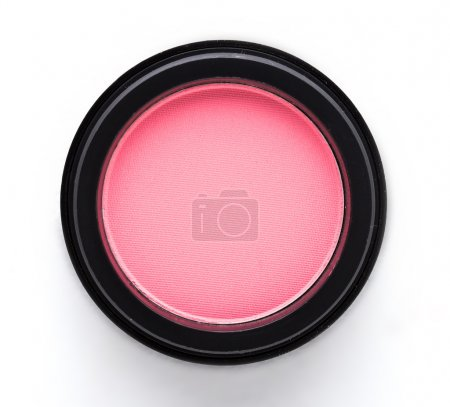 Cosmetic blush or make up powder isolated on white...