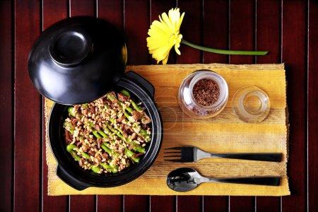 spanish cuisine claypot mushroom rice