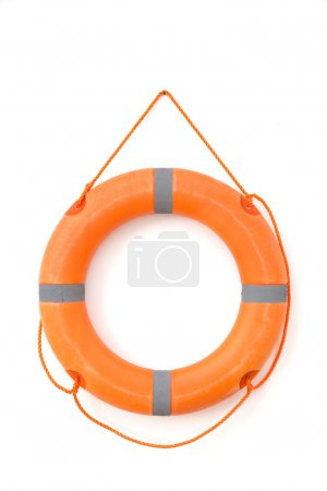 Safety tube in white background isolated
