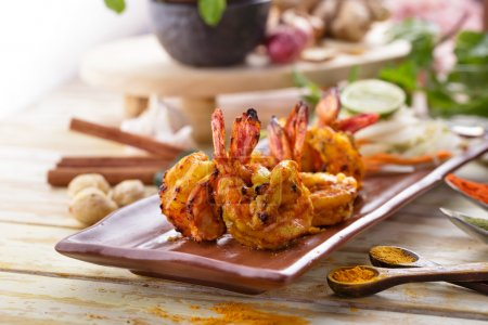Indian tandoori prawn