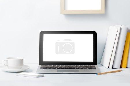 creative modern desktop at workspace