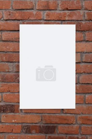 white board on brick wall