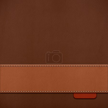 Photo pour Fond de Vintage cuir cousu en couleurs bruns - image libre de droit
