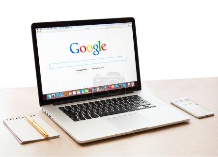 Google webpage on Macbook pro