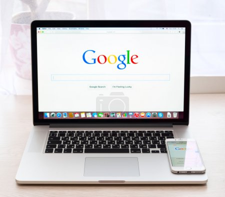 Сайт Google на макбук про