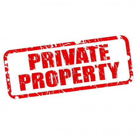Private property red stamp text