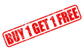 Buy 1 get 1 free red stamp text