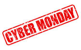 Cyber monday red stamp text