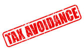 TAX AVOIDANCE red Rubber Stamp on white