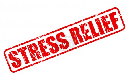 Stress relief red stamp text