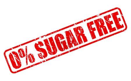 Zero percent sugar free red stamp text