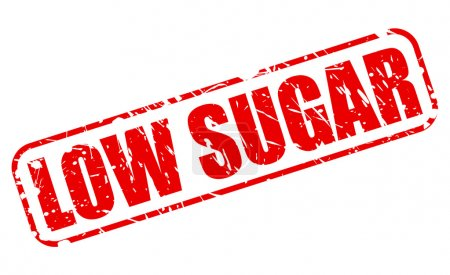 Low sugar red stamp text