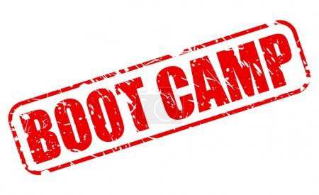 Boot camp red stamp text